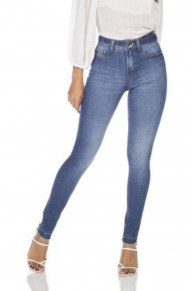 dz3214 calca jeans feminina skinny media com cinto removivel denim zero frente prox