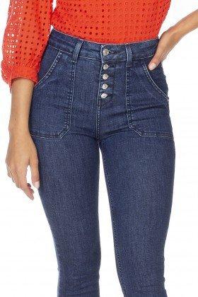 dz3230 calca jeans feminia new boot cut bolsos sobrepostos denim zero frente detalhe