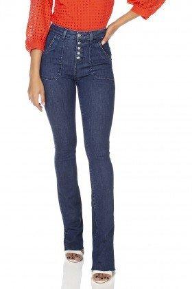 dz3230 calca jeans feminia new boot cut bolsos sobrepostos denim zero frente prox
