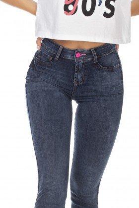 dz3222 calca jeans feminina skinny media cigarrete denim zero frente detalhe