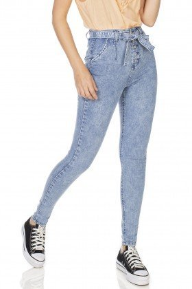 dz3228 calca jeans feminina skinny hot pants com cinto denim zero frente prox