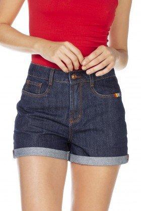dz6350 shorts jeans feminino mom barra dodrada denim zero frente detalhe