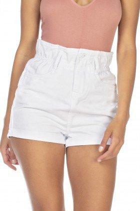 dz6363 shorts jeans feminino setentinha com babado denim zero frente detalhe