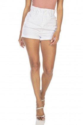 dz6363 shorts jeans feminino setentinha com babado denim zero frente prox