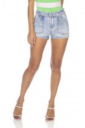dz6358 shorts jeans feminino young bolsos sobrepostos denim zero frente prox
