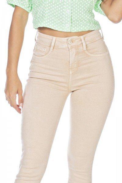 dz3125 calca jeans feminina skinny media cigarrete honey denim zero frente detalhe