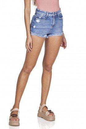 dz6330 shorts jeans setentinha barra dobrada denim zero frente prox