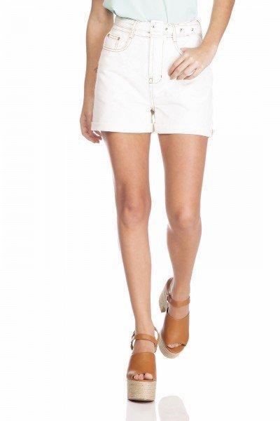 dz6377 shorts jeans feminino mom com cinto removivel off white denim zero frente prox