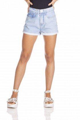 dz6383 shorts jeans feminino setentinha barra dobrada denim zero frente prox
