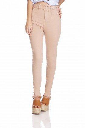 dz3257 calca jeans feminina skinny media cigarrete com cinto cappuccino denim zero frente prox