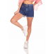 dz6378 shorts jeans feminino pin up estampa rosa neon denim zero frente prox