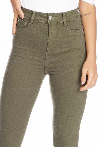 dz2528 13 calca jeans feminina skinny hot pants colorida crocodilo denim zero frente detalhe