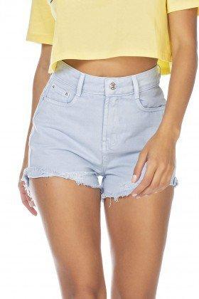 dz6373 shorts jeans feminino setentinha barra desfiada azul sereno denim zero frente detalhe