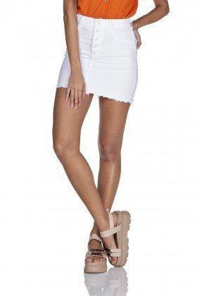 dz7124 saia jeans tubinho black and white com botoes branco denim zero frente prox