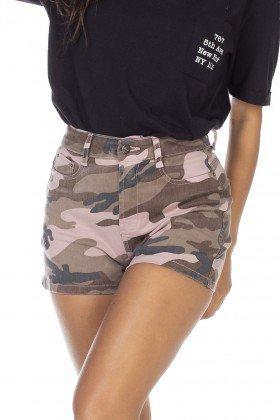 dz6354 shorts jeans feminino camuflado mist denim zero frente detalhe