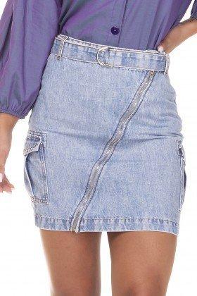 dz7128 saia jeans regular com bolsos laterais denim zero frente detalhe