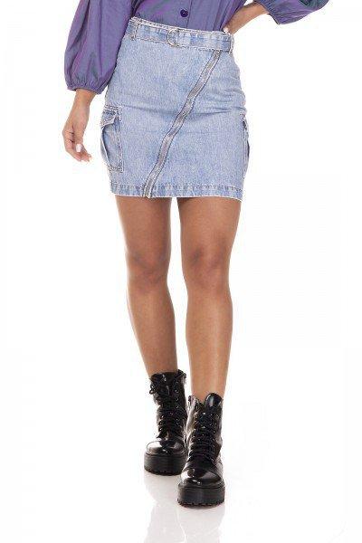 dz7128 saia jeans regular com bolsos laterais denim zero frente prox
