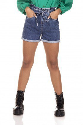 dz6382 shorts jeans mom clochard barra dobrada denim zero frente prox