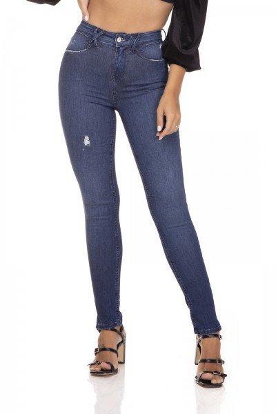 dz3284 calca jeans skinny media cigarrete fenda na barra denim zero frente prox
