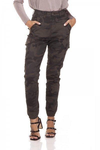 dz3281 calca jeans feminina mom fit camuflada denim zero frente prox