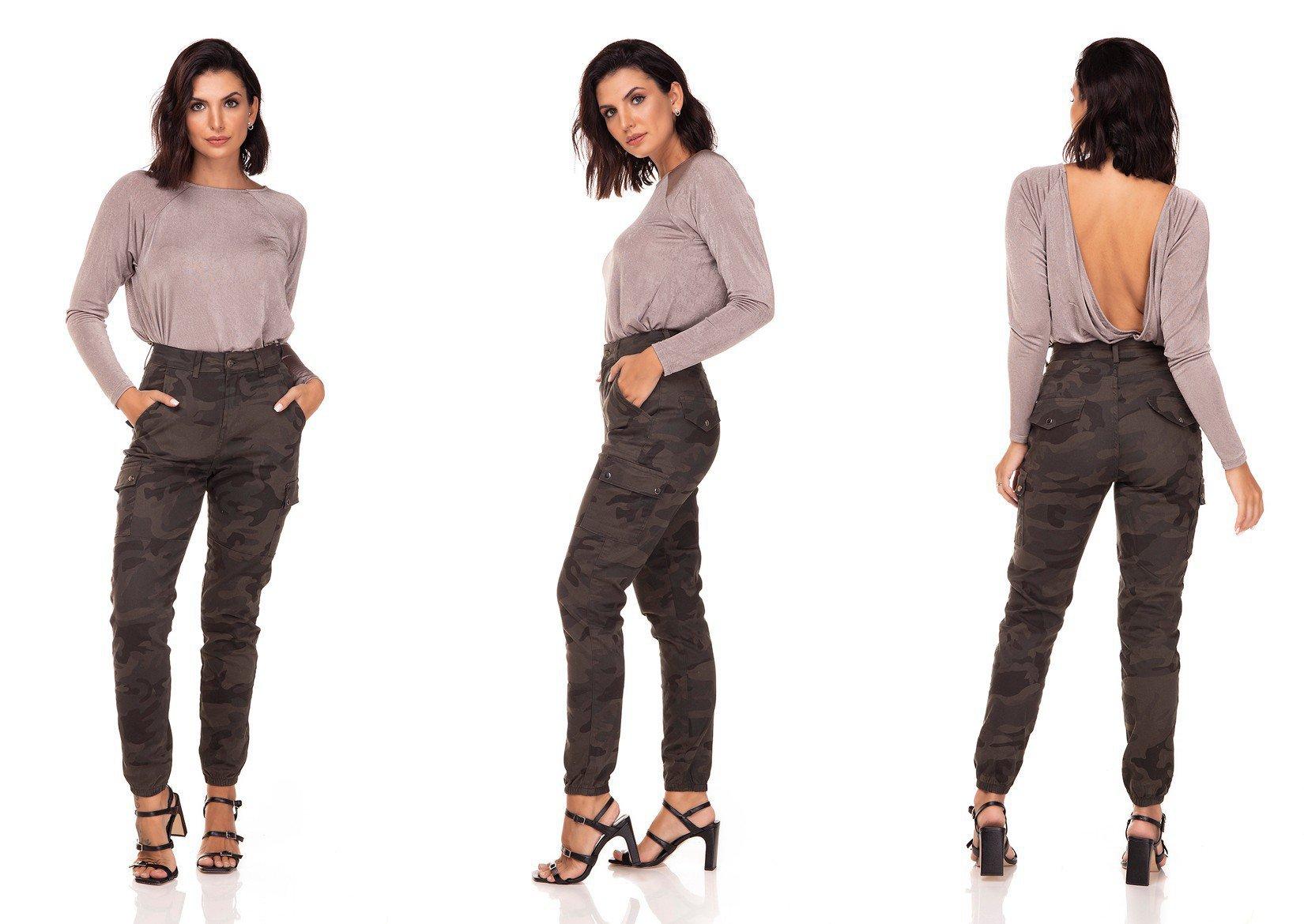 dz3281 calca jeans feminina mom fit camuflada denim zero tripla