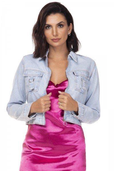 dz9104 jaqueta jeans feminina cropped denim zero frente prox