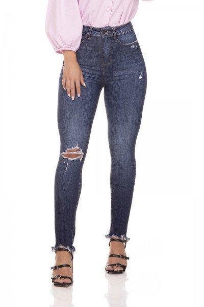 dz3293 calca jeans skinny cigarrete hot pants barra irregular denim zero frente prox