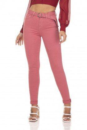 dz3362 calca jeans feminina skinny media com cinto blush denim zero frente prox