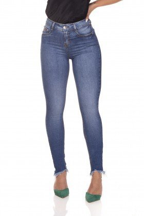 dz3252 calca jeans skinny media barra irregular denim zero frente prox
