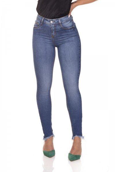 dz3252 calca jeans skinny media barra irregular denim zero frente prox