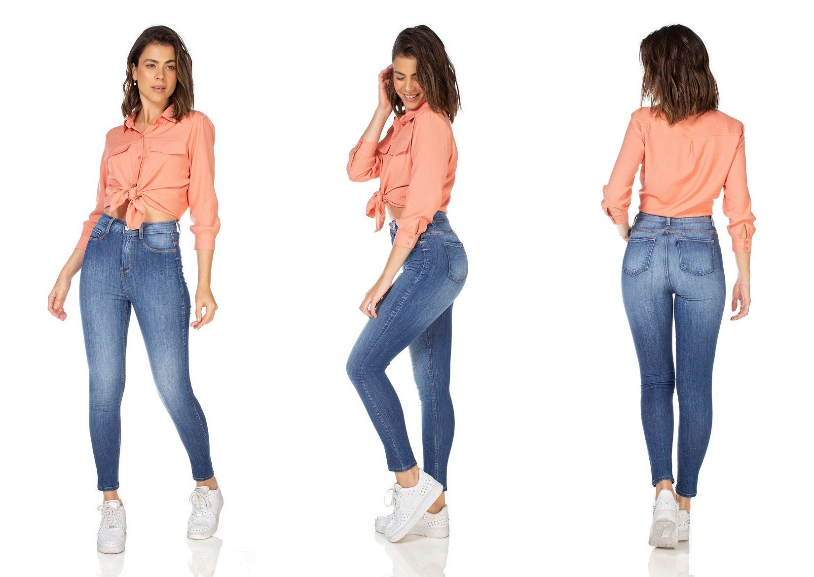 dz3227 calca jeans feminia skinny hot pants cigarrete denim zero tripla