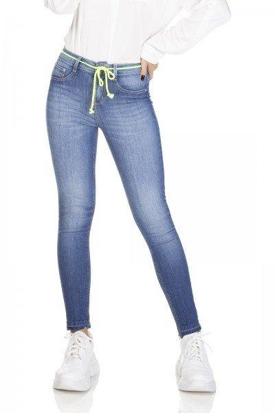 dz3101 calca jeans skinny media cigarrete denim zero frente prox
