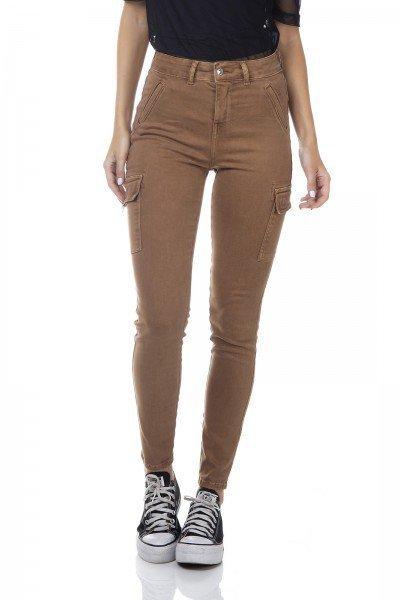 dz3345 calca jeans feminina skinny media cigarrete bolsos laterais denim zero frente prox