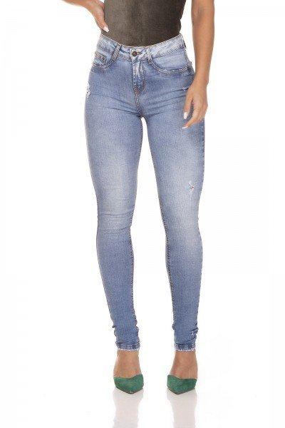 dz3261 calca jeans skinny media cigarrete com puidos denim zero frente prox