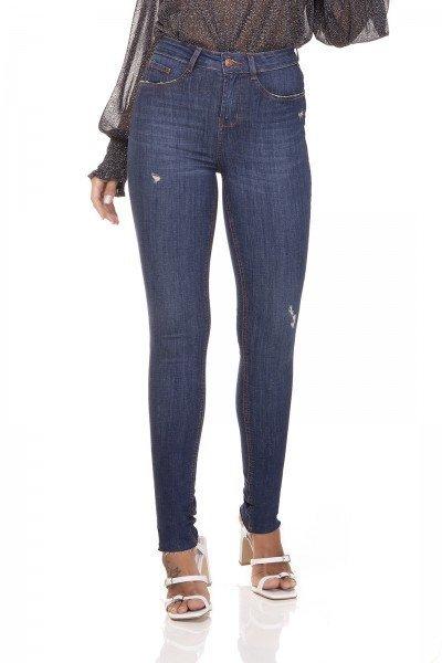 dz3292 calca jeans skinny media corte a fio denim zero frente prox