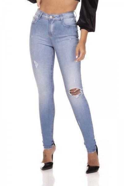 dz3290 calca jeans skinny media com puidos denim zero frente prox