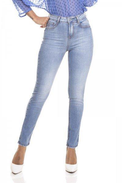 dz3333 calca jeans feminina skinny media tradicional denim zero frente prox