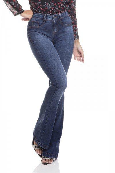 dz3388 calca jeans feminina flare media tradicional denim zero frente prox