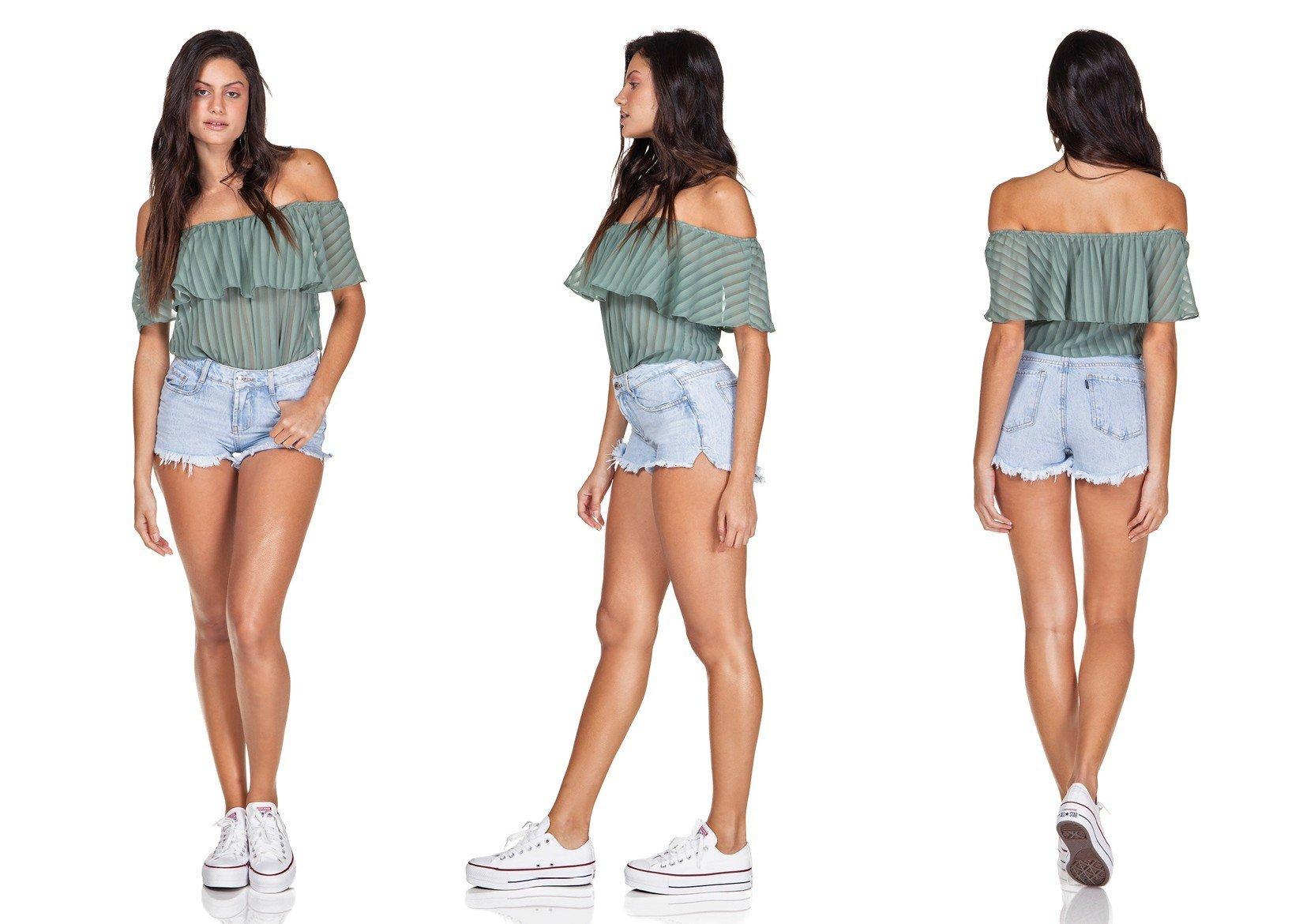 dz6332 shorts jeans young com abertura lateral denim zero trio
